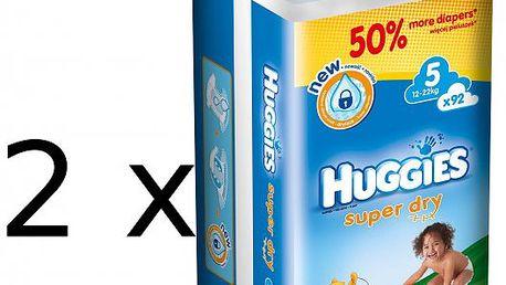 Prémiové plenky Huggies Super Dry 5 Giga double box - 184ks