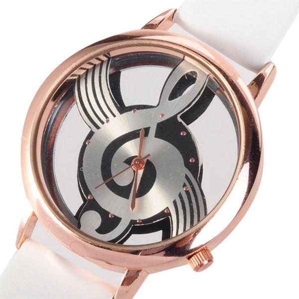 Analogové hodinky - ciferník houslový klíč, 2 barvy a poštovné ZDARMA! - 230