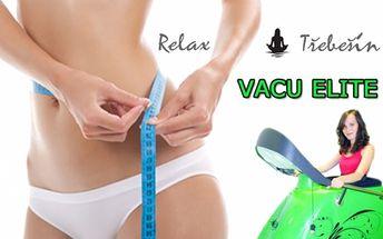 70 Kč za 30 min. cvičení na VACU ELITE nebo 700 Kč za 12x30 min. PERMANENTKU ve známém studiu Relax Třebešín. Cvičte efektivně a spalujte tuky na maximum!!!