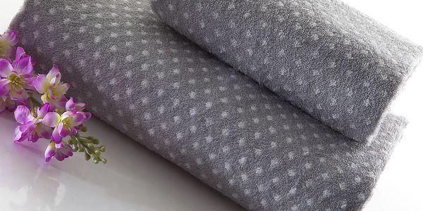 Set dvou ručníků Naila 140x70 a 90x50 cm, šedý