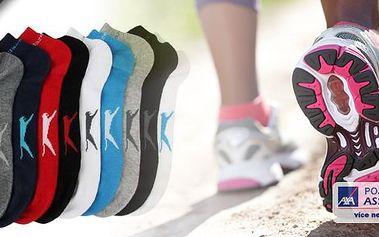 Sada 5-ti sportovních kotníkových ponožek Slazenger pro dámy i pány.