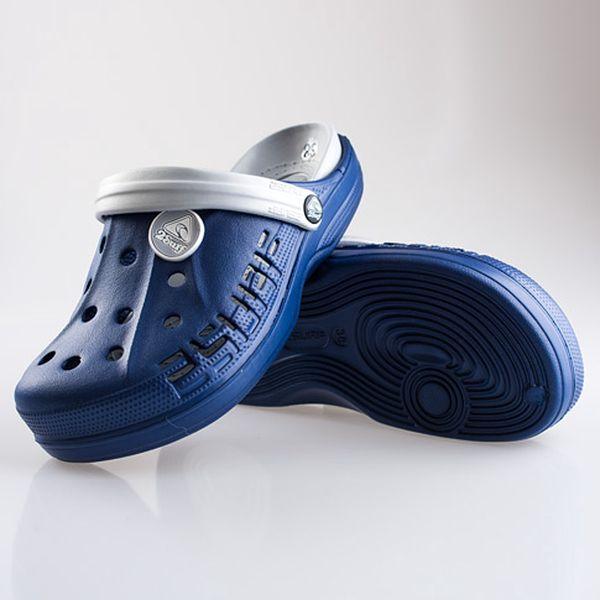 Dámské modro-šedé nazouváky