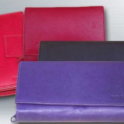 Dámské kožené peněženky v různých barvách a tvarech!