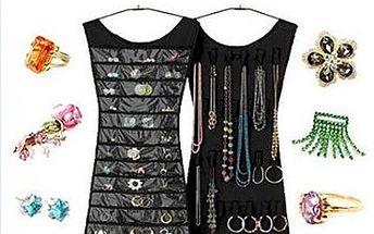 Elegantní organizér na šperky jen za 129 Kč. Potřebujete si přehledně a jednoduše urovnat všechny své náhrdelníky, náramky či náušnice? Tento krásný organizér ve tvaru šatů Vám s tím pomůže.