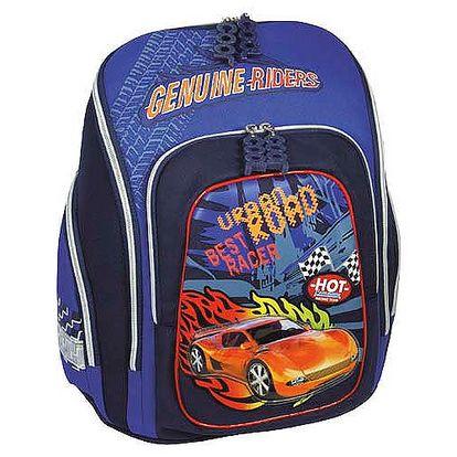 Školní batoh Cherry Cool Racing uzpůsobený na velikost A4