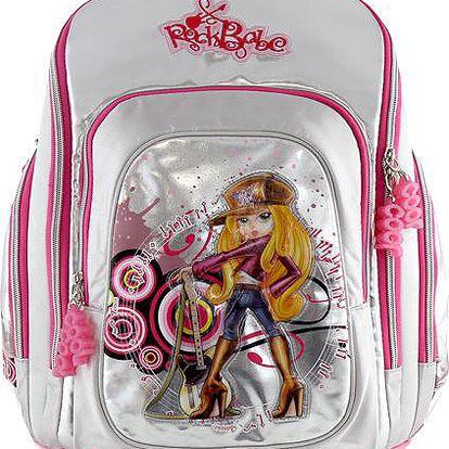 Školní batoh Cherry Cool RockBabe Silver