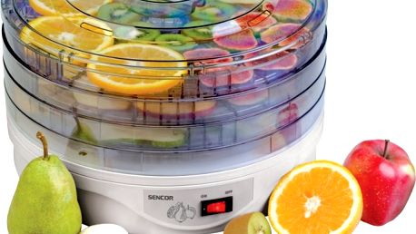 Sušička potravin SENCOR SFD 135 E - usuší velmi snadno ovoce, zeleninu, houby, bylinky, maso a jiné druhy potravin!