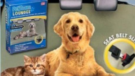 Již žádné chlupy nebo špína na sedadlech! PET zoom Loungee deka je to co potřebujete!