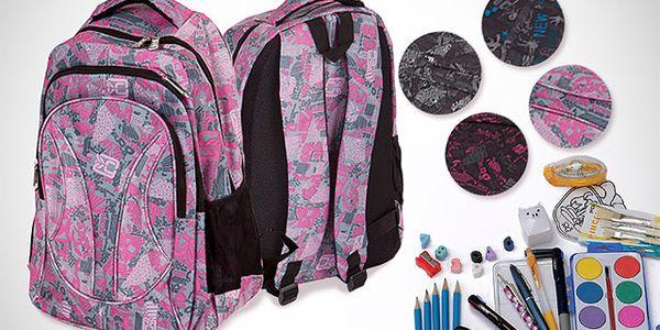 Batoh se školními potřebami ve 4 barvách