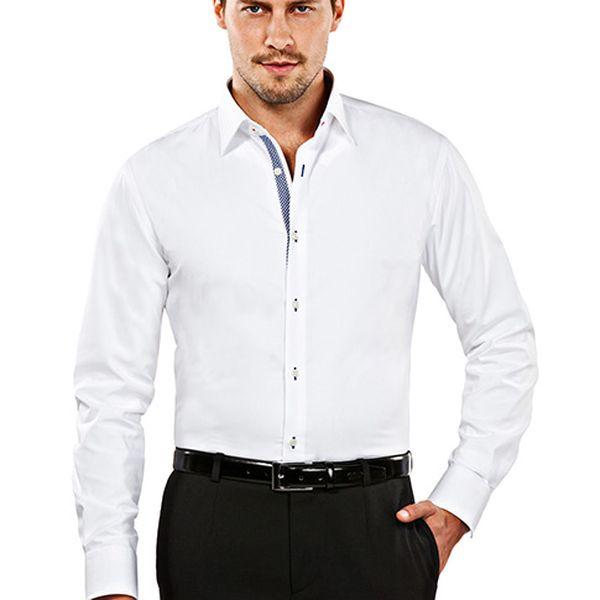 Slim-fit bílá košile Thomas
