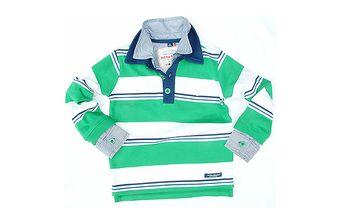 Polokošile zelená/modrá/bílá pro chlapečky