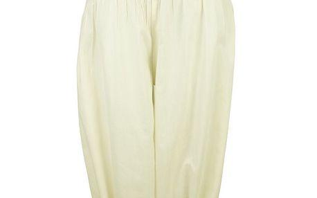 """Bavlněné kalhoty White v moderním """"aladinovém"""" střihu"""
