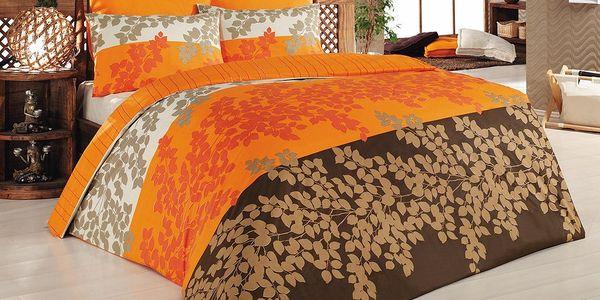 Povlečení Serenity Orange, 200x220 cm s prostěradlem