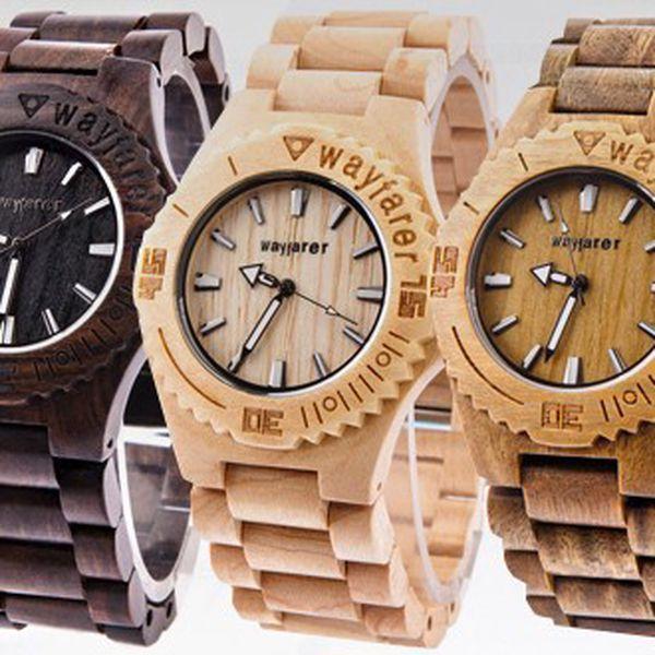 Luxusní dřevěné hodinky TIMBER ve třech barvách – WOOD WATCH cdb3da0b17e