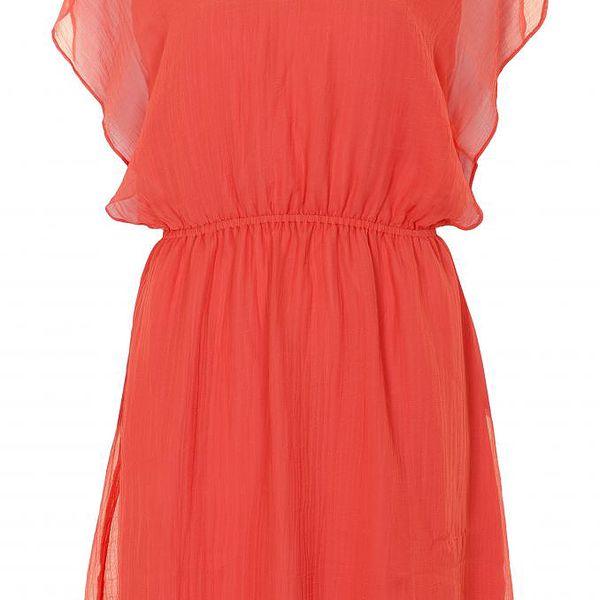Šaty Marlin Coral red v korálově červené barvě se spodničkou