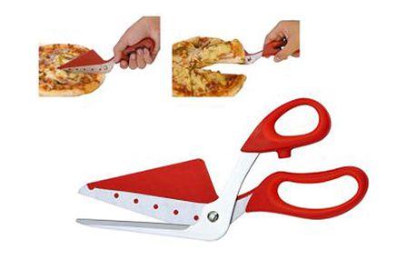 Nůžky na pizzu červené