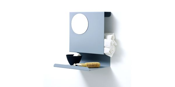 Polička Ledge:able, modrošedá. Dánský design Linde&Linde