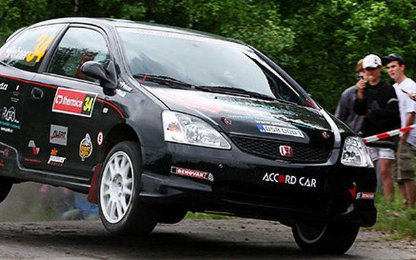 Rally jízda s profíkem i svezení ve vlastním voze