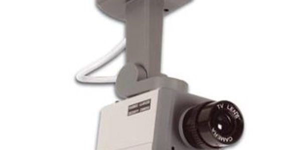 Pohyblivá atrapa kamery s diodou, která zareaguje na pohyb se slevou 75%! Neskutečně nízká cena za kvalitní ochranu!!