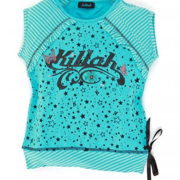 Moderní dívčí tričko Killah TE28 1262_0235 modrá/černá