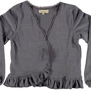 Dětský kabátek Mole s kanýrkem, knoflíček na zapnutí.