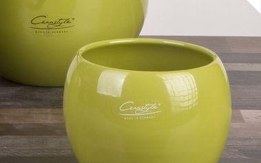 Sada 2 zelených květináčů Arctic, 14 cm