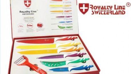 Sada kvalitních švýcarských nožů 6 Ks + škarba - Royalty Line