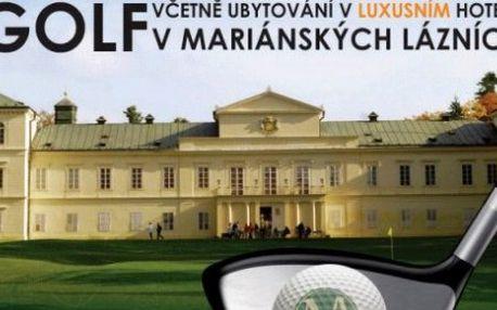 3 denní golfový pobyt pro 2 osoby vč. 2 golf FEE v Mariánských Lázních