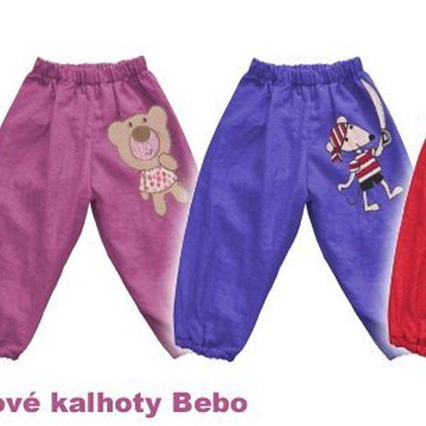 Dětské šusťákové kalhoty Bebo- jsou vhodné na tábor,nebo na pískoviště!