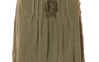 Sukně Tia Walnut Grey z jemné bavlny áčkového střihu