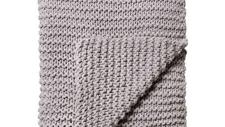 Pletený přehoz Grey 130x180