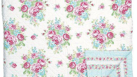 Luxusní prošívaný Přehoz June white 140x220
