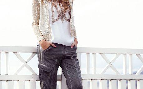 3/4 kalhoty Lily s trendy nařasenými nohavicemi
