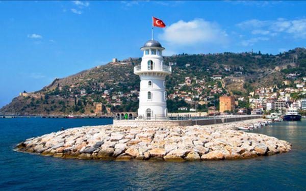 LAST MINUTE: Turecká riviéra na 8 dní v termínu 4- 11.9. Dovolená s all inclusive včetně plážového servisu na hotelové pláži. Hotel je nedaleko centra Alanya.