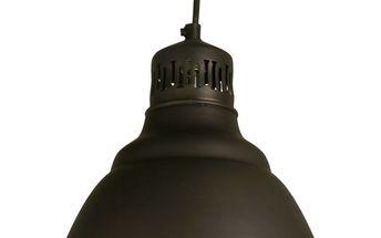 Stylová závěsná kovová lampa Oscar, Průměr cylindru 25,5 cm, výška 23 cm.