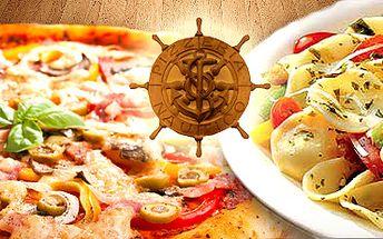 Pizza (33 cm) nebo těstoviny dle vašeho výběru za poloviční cenu!