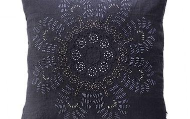 Povlak na polštář Flower Dark blue 50x50