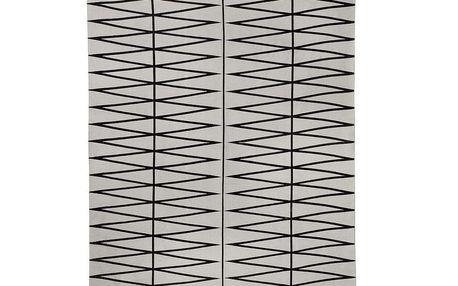 Bavlněný koberec grey/black 140x200 cm