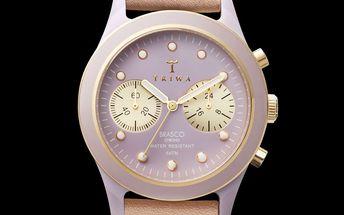 Elegantní hodinky s ciferníkem TRIWA - Siren Tan Brasco Chrono