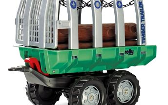 "Rolly Toys Vlečka s kládami ""Timber Trailer"" 2-osá-zelená"