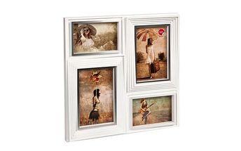 Bílý rámeček na čtyři fotky