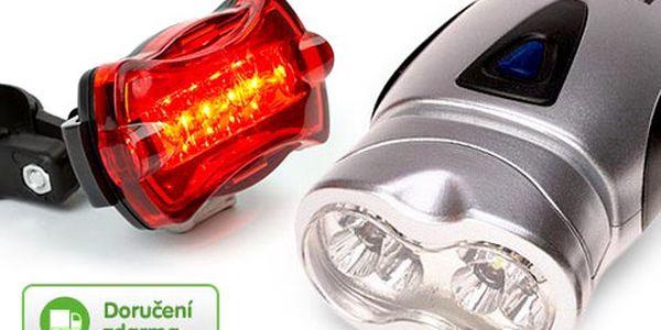 LED světla na kolo – přední světlo a blikačka