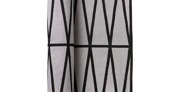 Bavlněný koberec grey/black 70x240 - 100% bavlna, lze prát na 40°.