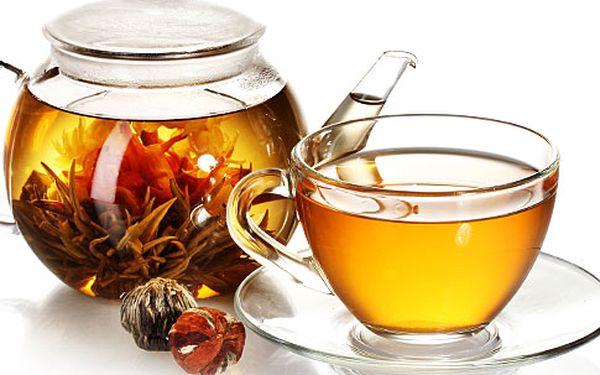Sada 10 kvetoucích zelených čajů