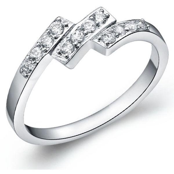 Dámský prsten s čirými kamínky a poštovné ZDARMA! - 245