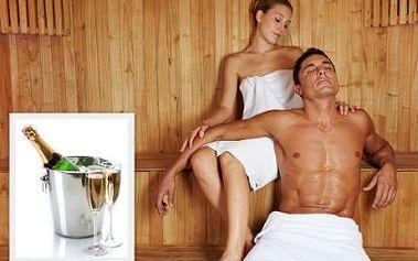 Privátní sauna se sklenkou sektu pro dva se slevou 50 %