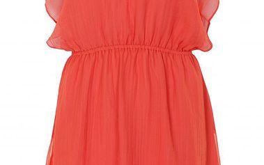 Nádherné šaty Marlin Coral red v korálově červené barvě se spodničkou