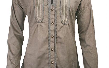 Bavlněná košile Magdalena Walnut grey