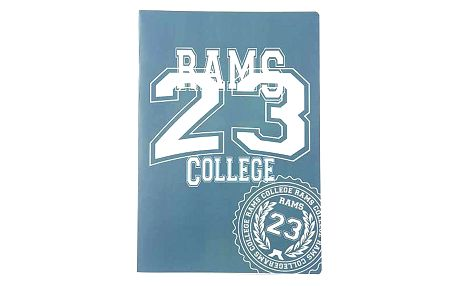 Sešit A4 čtverečky Rams 23 Sešit A4 čtverečky 80 stránek zelená