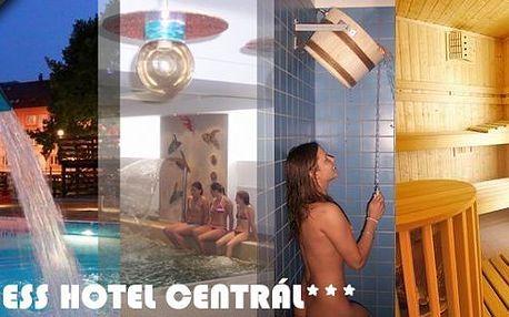Pobyt v hotelu roku 2012 Wellness hotel Central*** Klatovy - regionální vítěz prestižní soutěže CZECH HOTEL AWARDS 2012. Čeká vás masáž vonnými olejíčky, volný vstup do vnitřního vyhřívaného bazénu, finské sauny, solné sauny, sluneční louky.